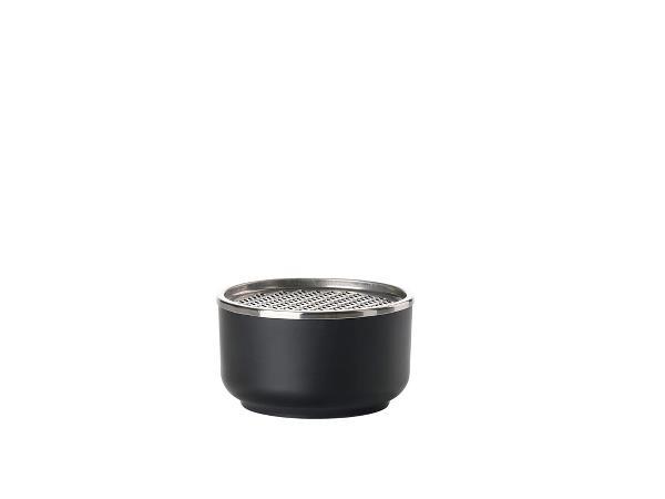 Bol din melamina cu capac si razatoare Peili Ø 12 cm Negru Zone Denmark
