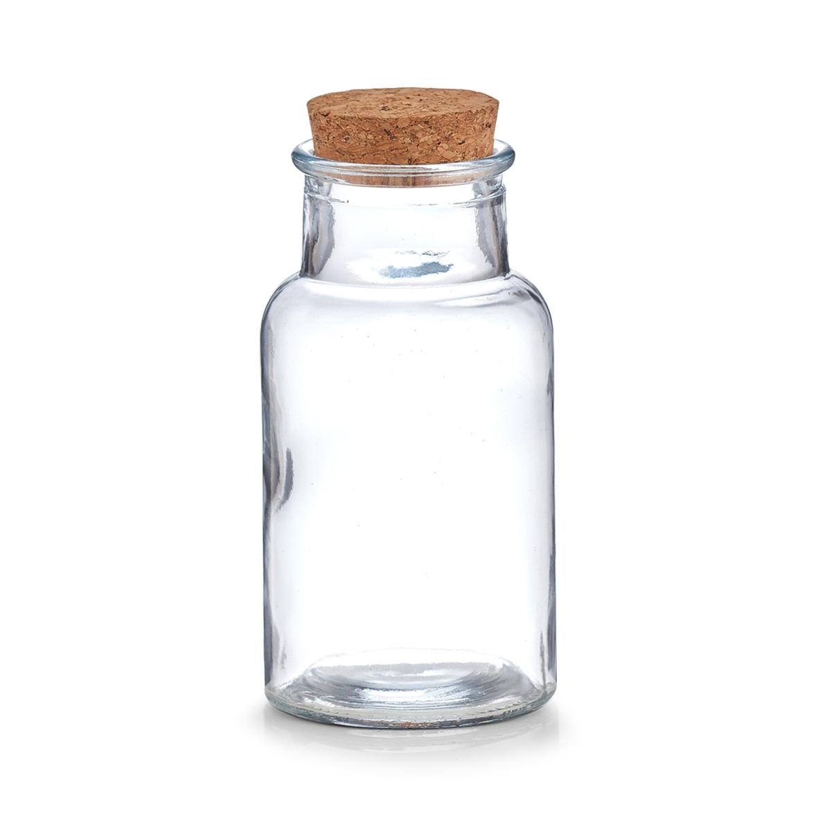 Borcan pentru depozitare cu capac din pluta, Glass, 250 ml, Ø 7xH13,5 cm