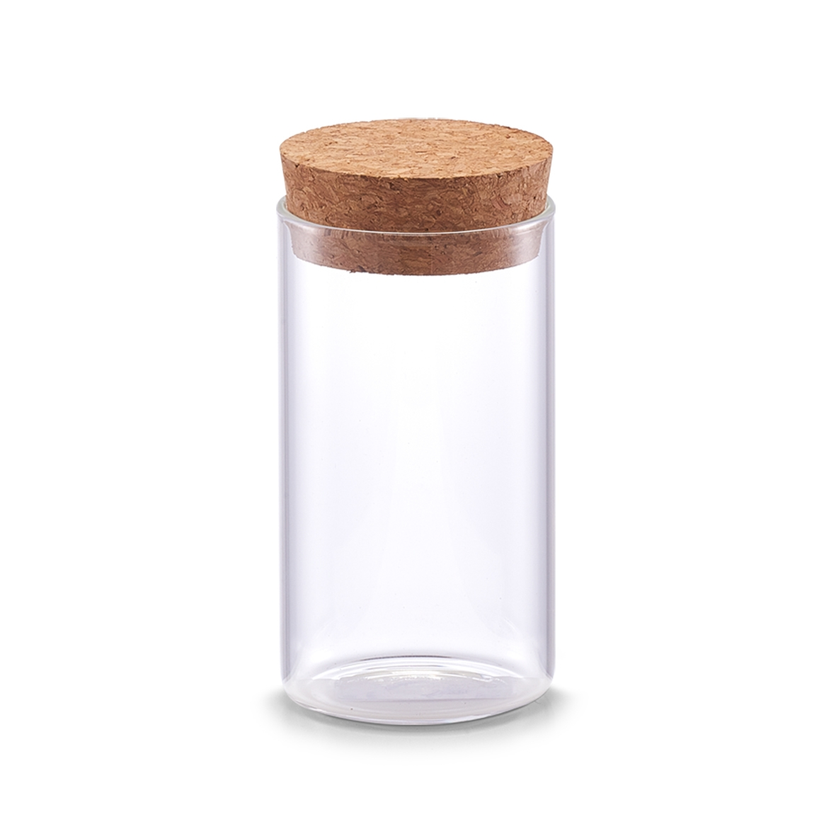 Borcan pentru depozitare cu capac din pluta, Transparent Glass, 175 ml, Ø 5,5xH10 cm imagine