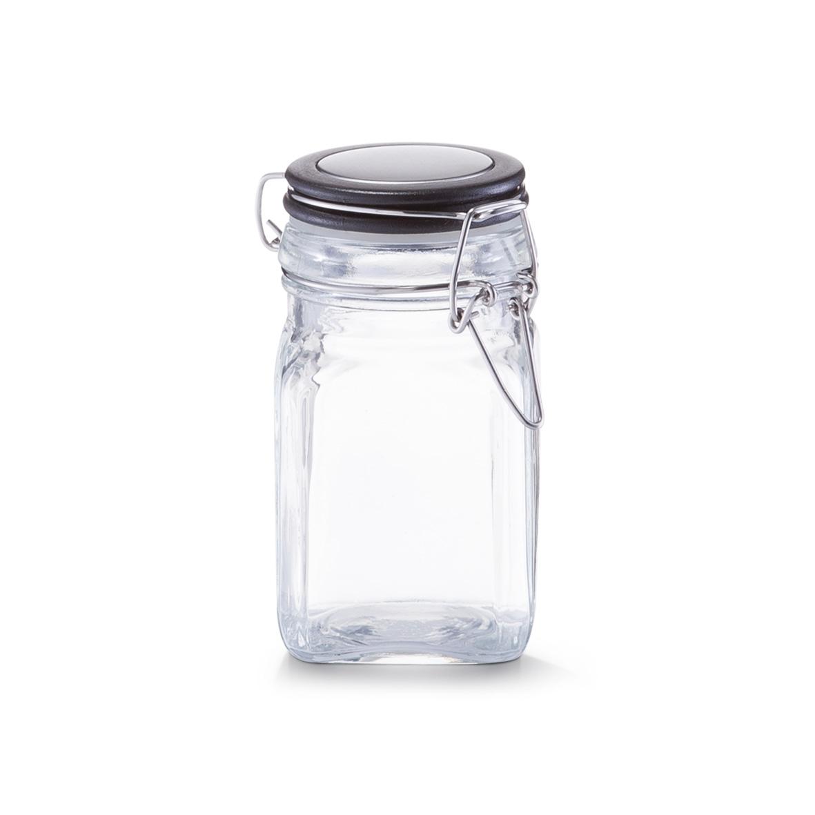 Borcan pentru depozitare cu capac, inchidere ermetica, 280 ml, l6,5xA6,5xH12 cm