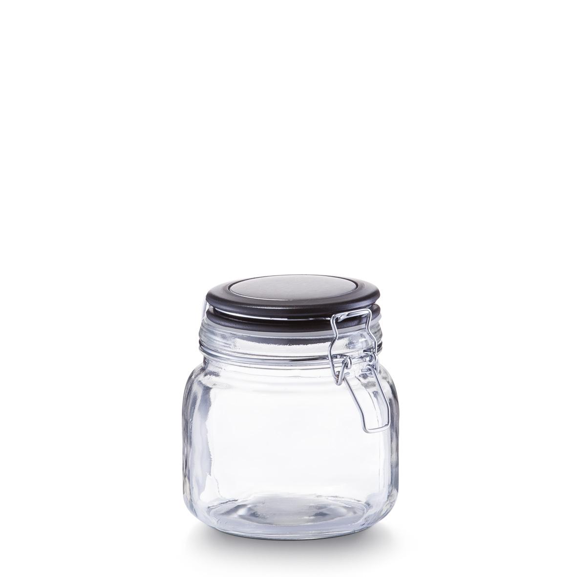 Borcan pentru depozitare cu capac, inchidere ermetica, 750 ml, l11,5xA11,5xH13 cm