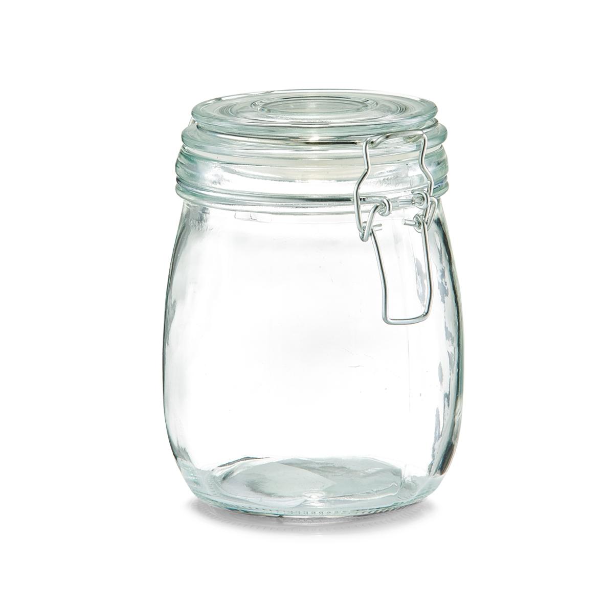 Borcan pentru depozitare cu capac, inchidere ermetica, Clip I Glass, 750 ml, Ø 11xH14 cm
