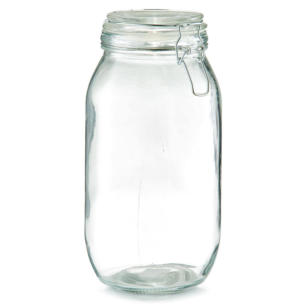 Borcan pentru depozitare cu capac, inchidere ermetica, Clip IV Glass, 2000 ml, Ø 12,6xH25,5 cm imagine
