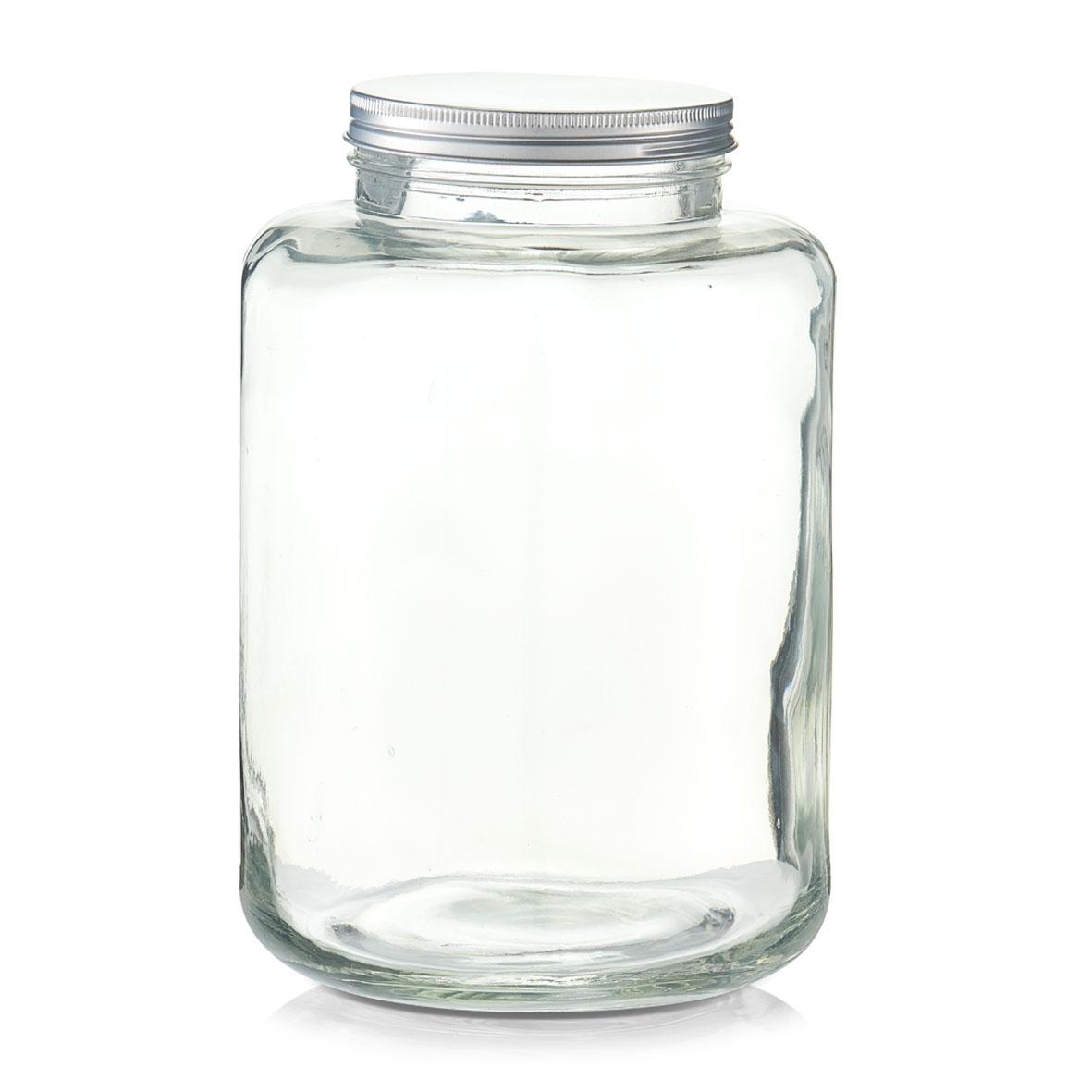 Borcan pentru depozitare din sticla, capac metalic, 7000 ml, Ø 20xH29,5 cm imagine