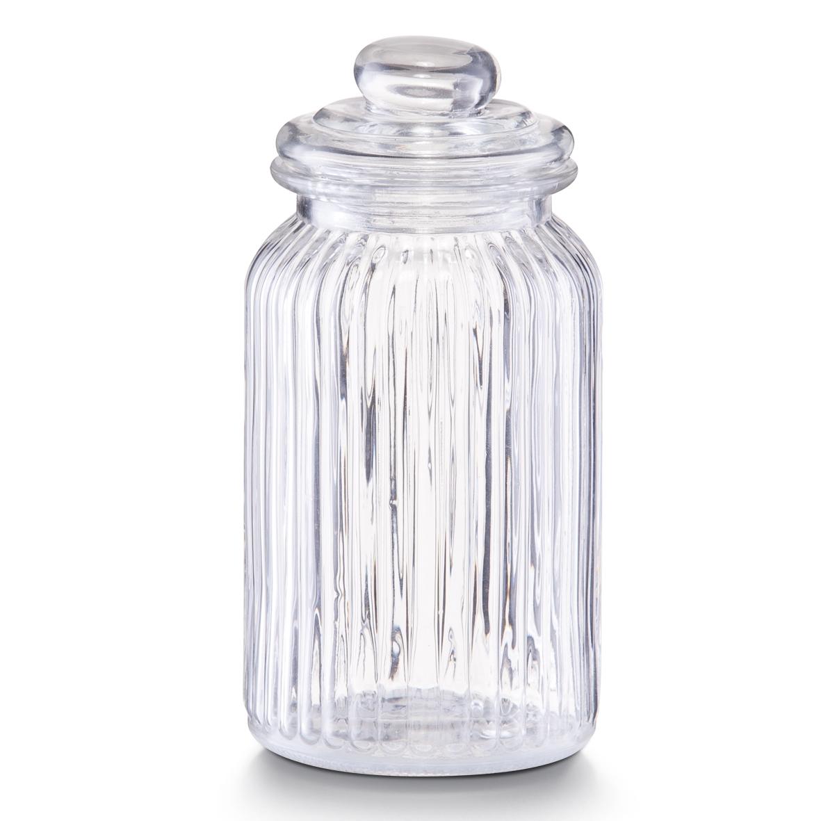 Borcan pentru depozitare din sticla Nostalgia, capac etans, 1200 ml, Ø 11xH22 cm
