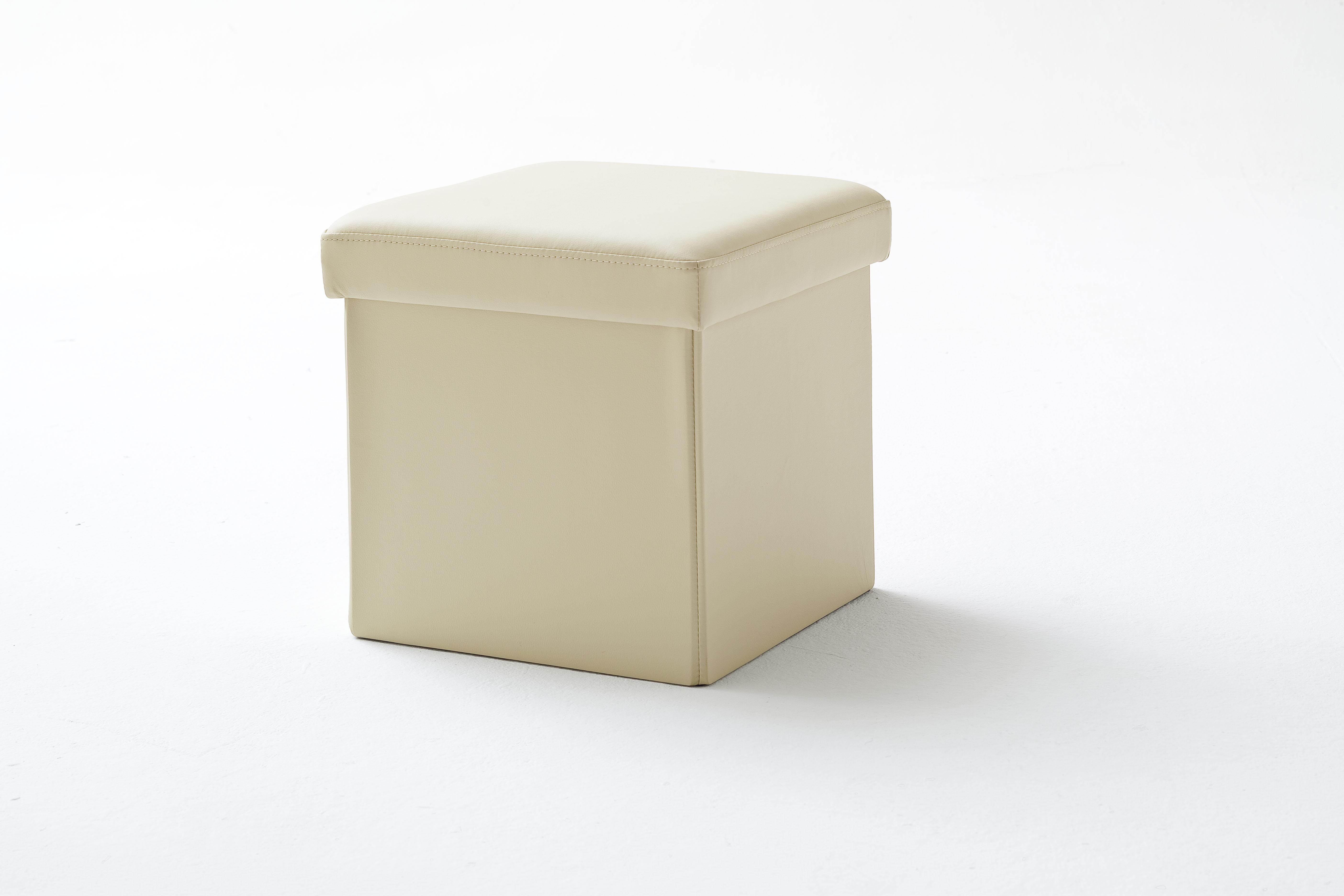 Taburet tapitat Box Bej