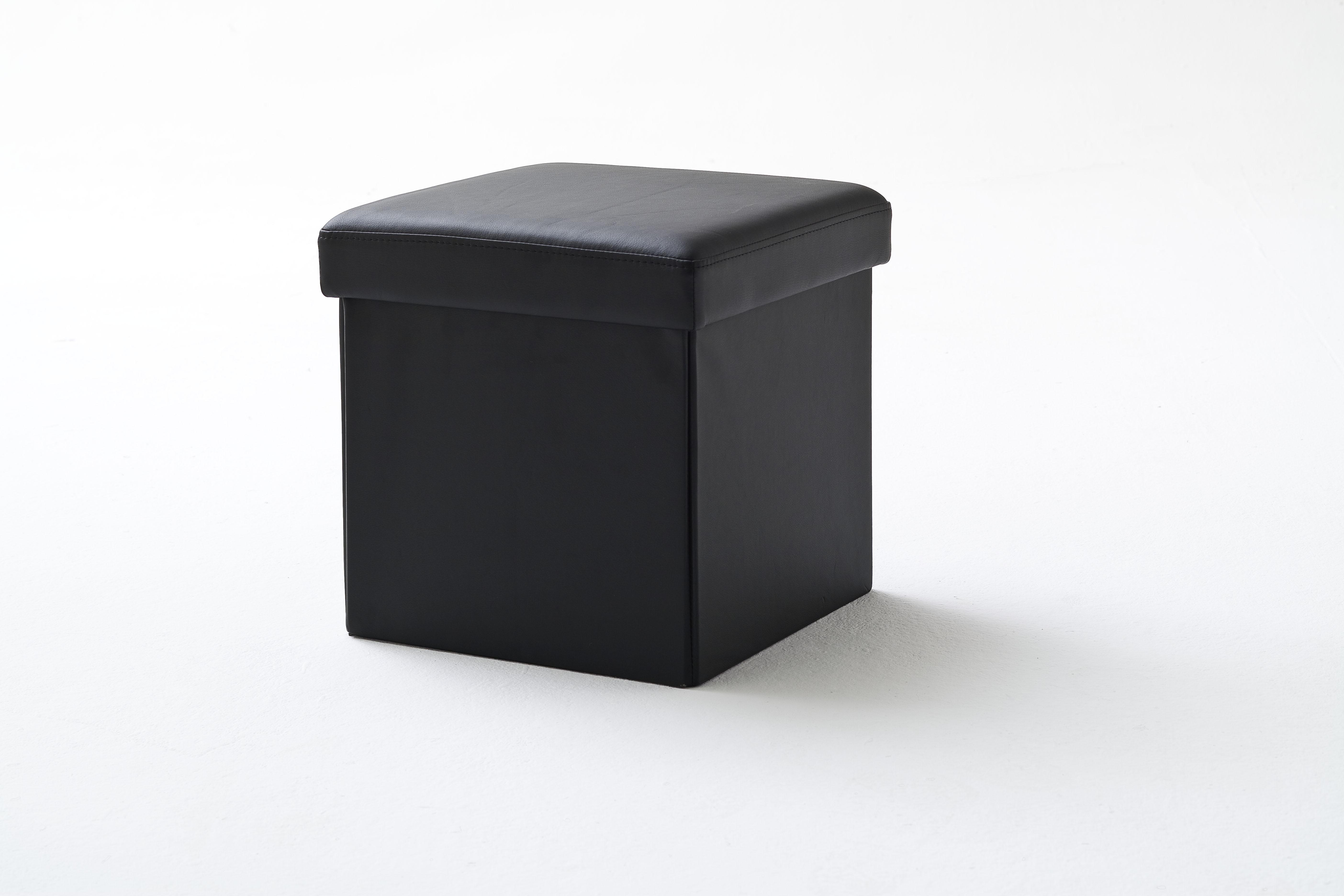Taburet tapitat Box Negru ( S )
