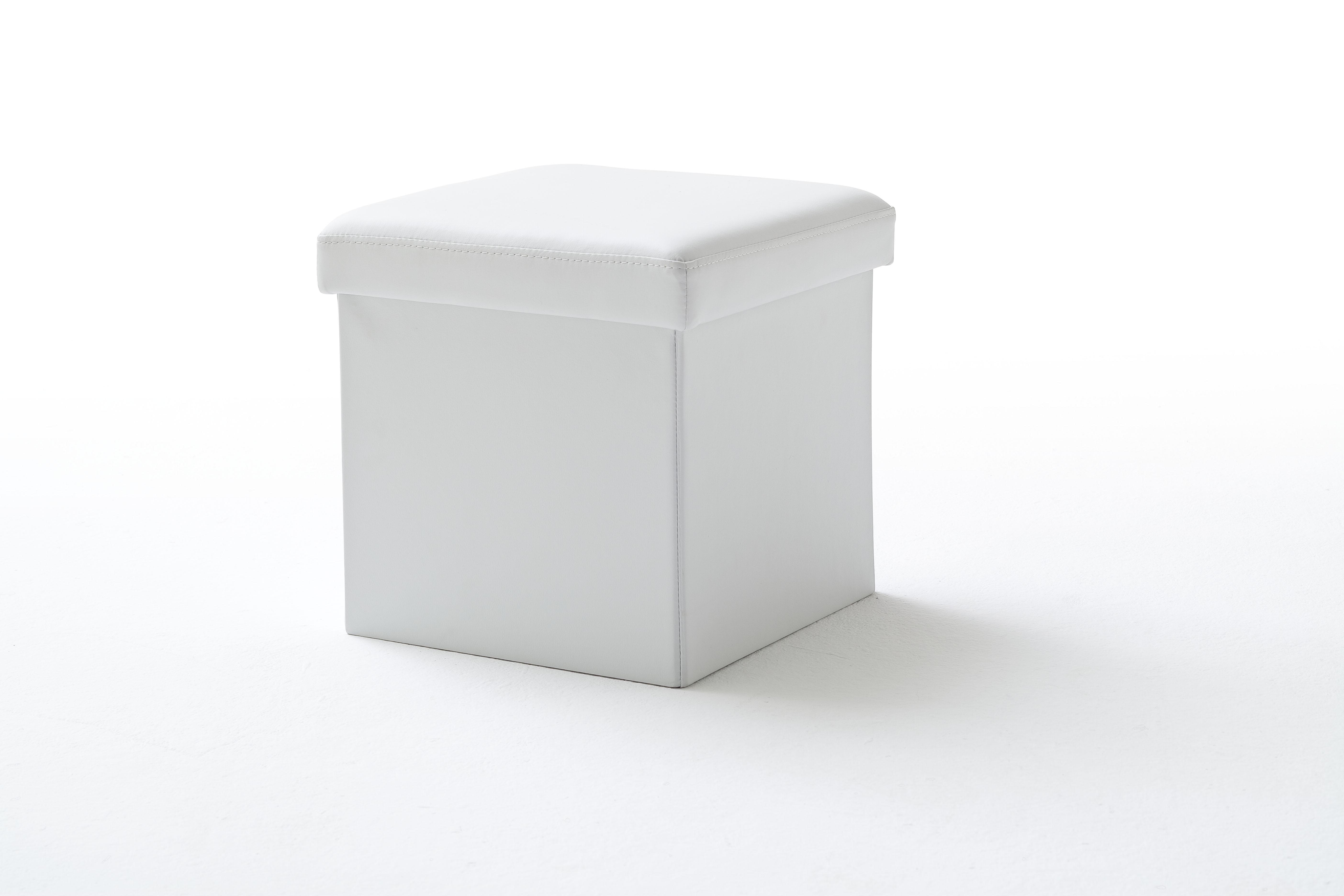 Taburet tapitat Box Alb