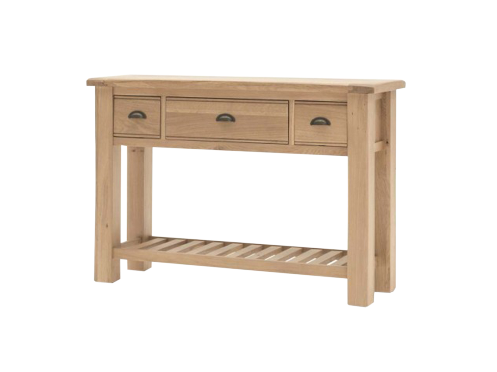 Consola din lemn de stejar Breeze, L120xl38xh83 cm