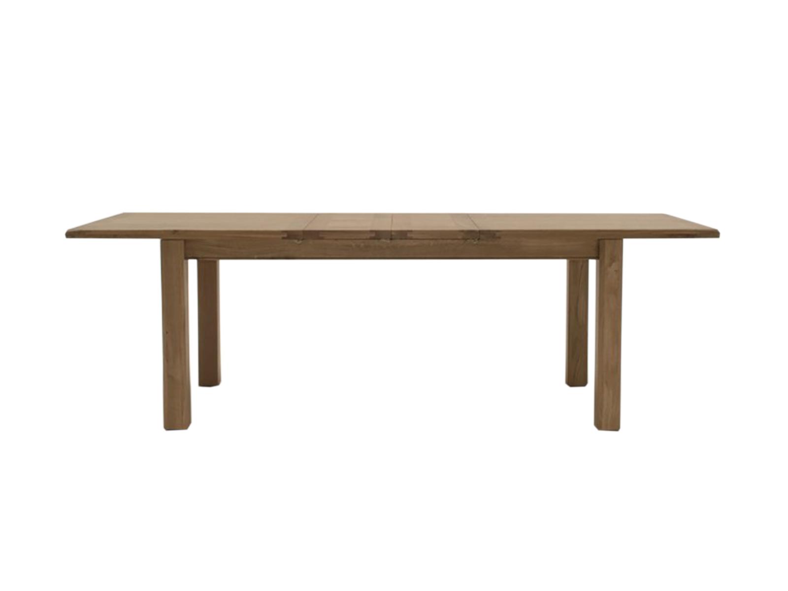 Masa extensibila din lemn de stejar si furnir Breeze Oak L180-246xl90xH77 cm