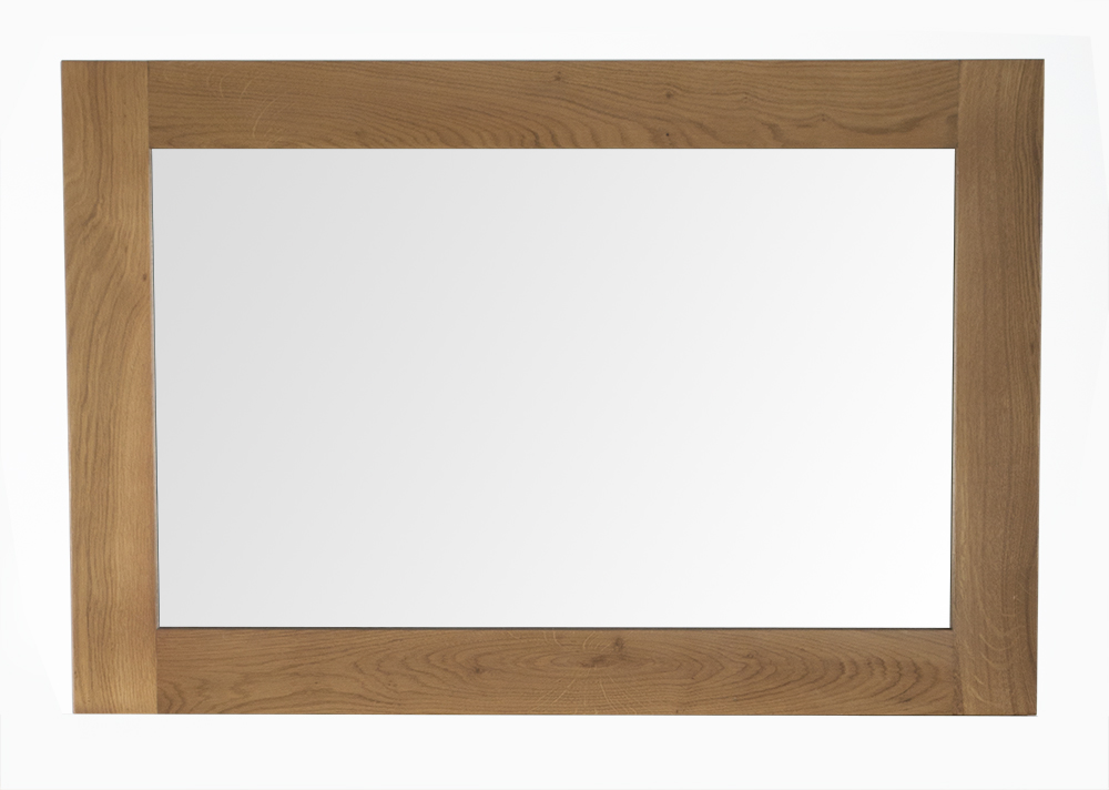 Oglinda decorativa din lemn de stejar si furnir Breeze Oak l90xA2xH60 cm