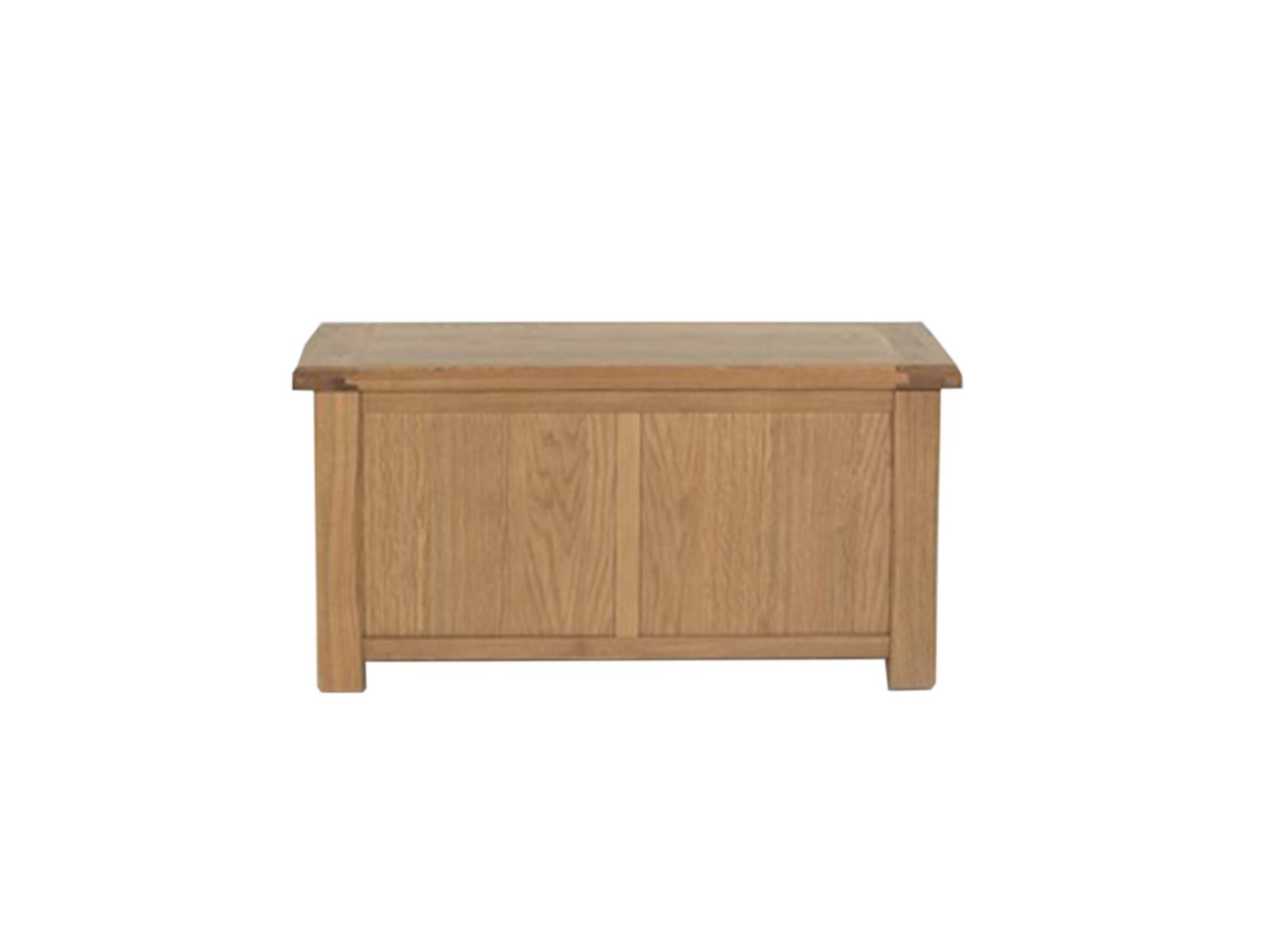 Lada de depozitare din lemn de stejar si furnir Breeze Oak l100xA50xH50 cm