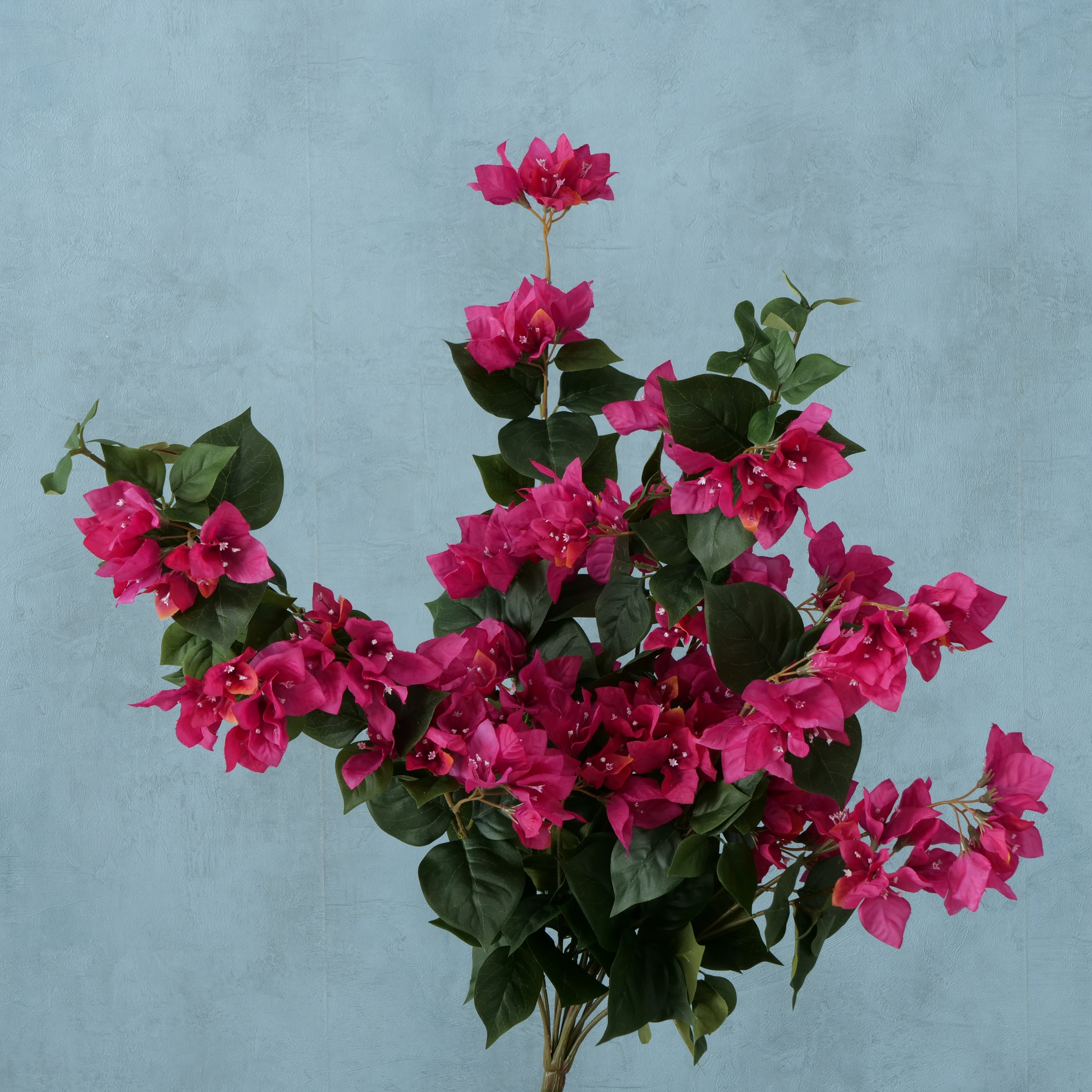 Buchet flori artificiale Bougainvillea Fucsia / Verde, H70 cm imagine
