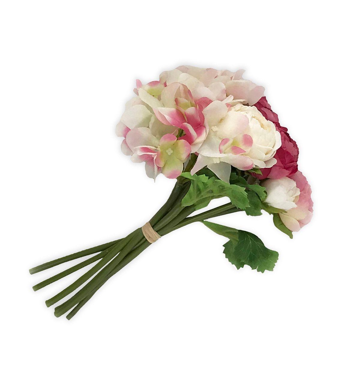 Buchet flori artificiale Grace Roz, 23 cm poza