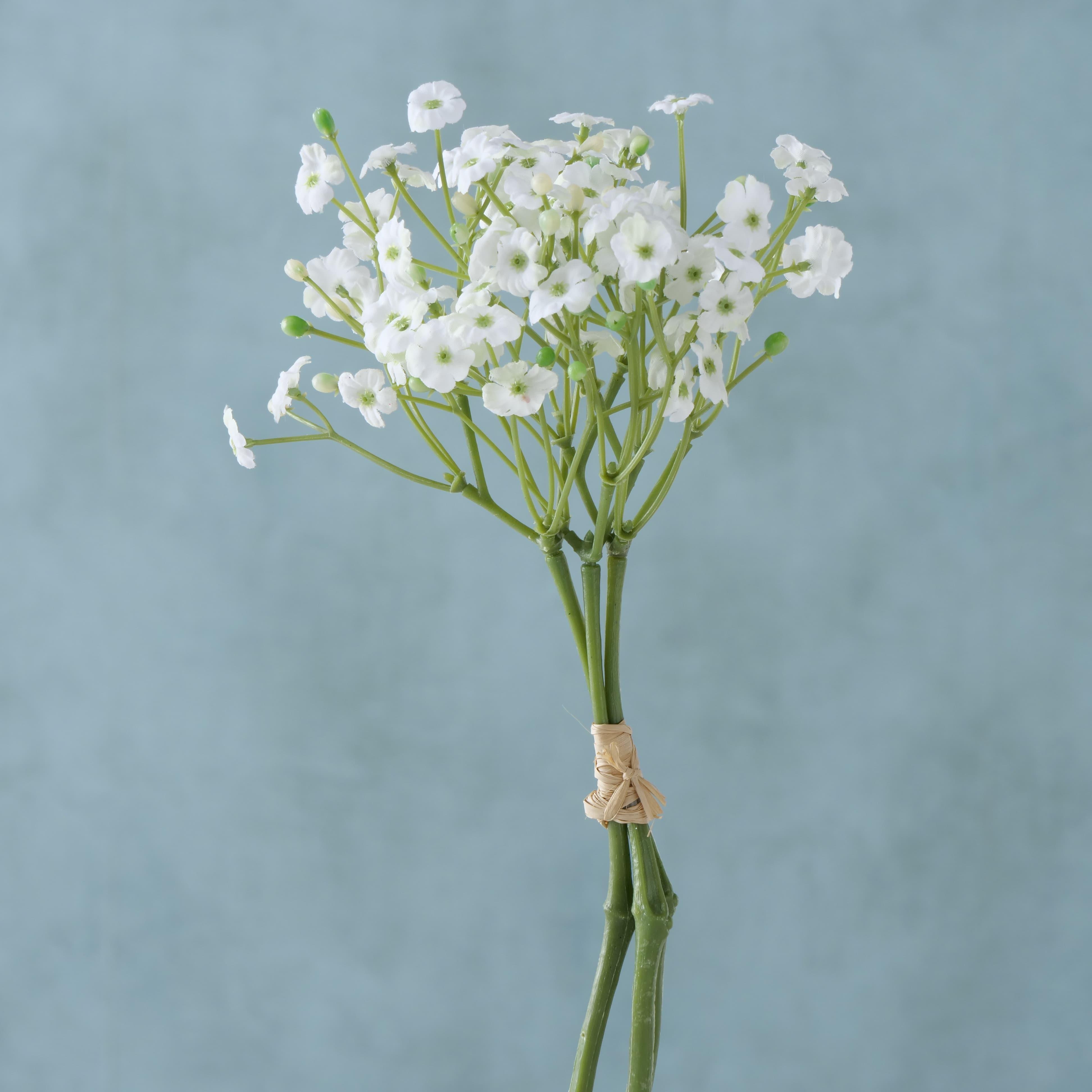 Buchet flori artificiale Gypsophila Alb / Verde, H29 cm