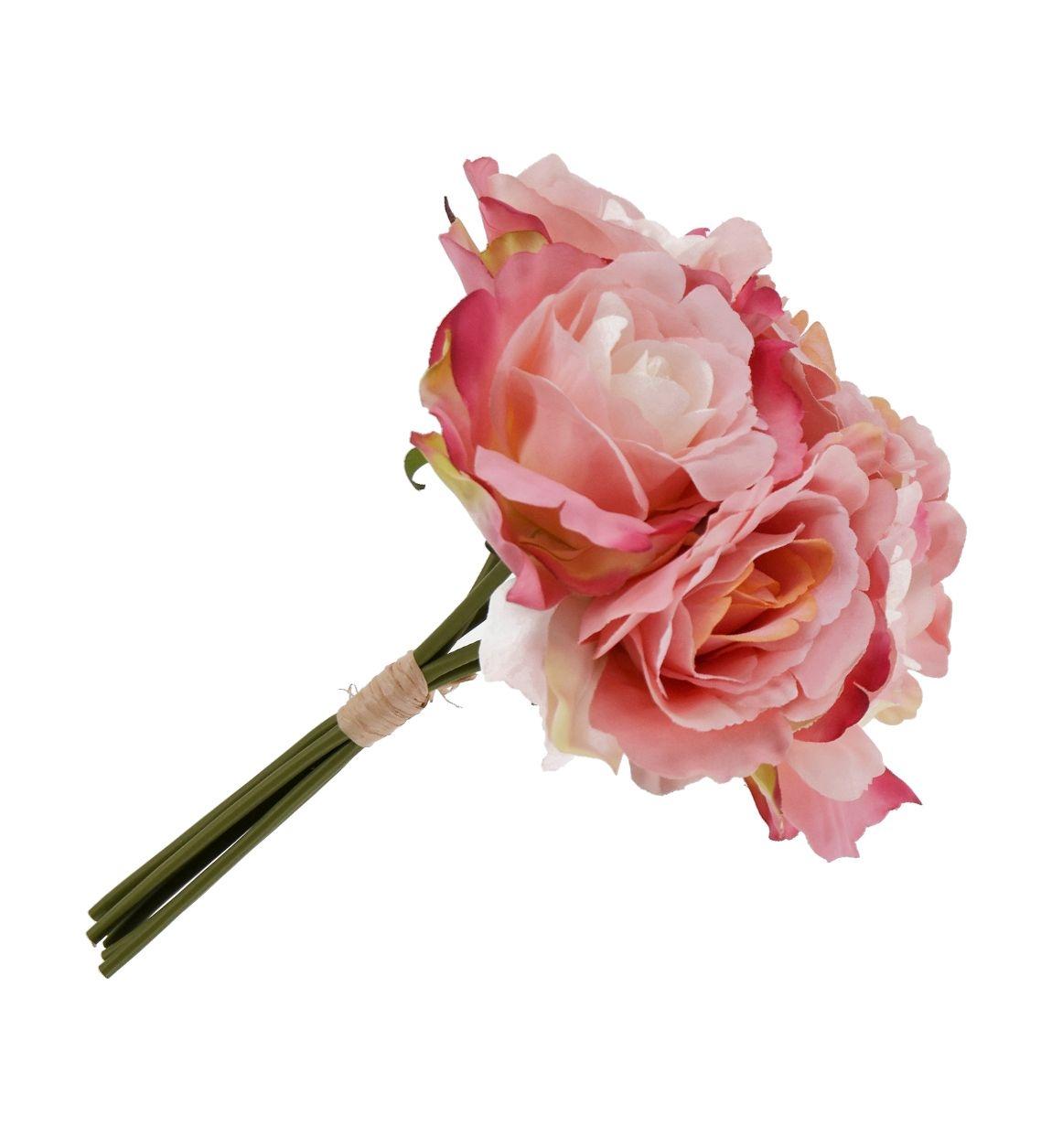 Buchet flori artificiale Ramo Roz, 30 cm poza