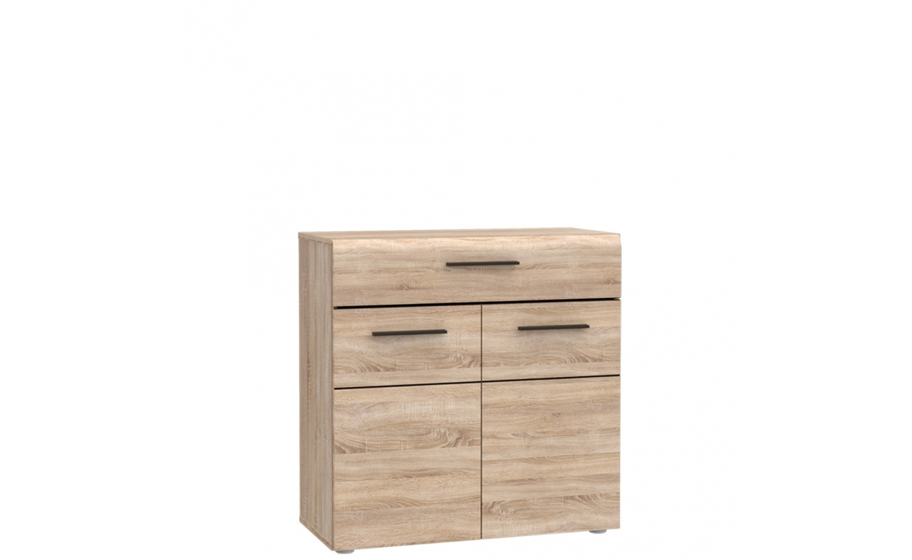 Cabinet din pal cu 1 sertar si 2 usi Combo Sonoma Oak l74xA34xH74 cm