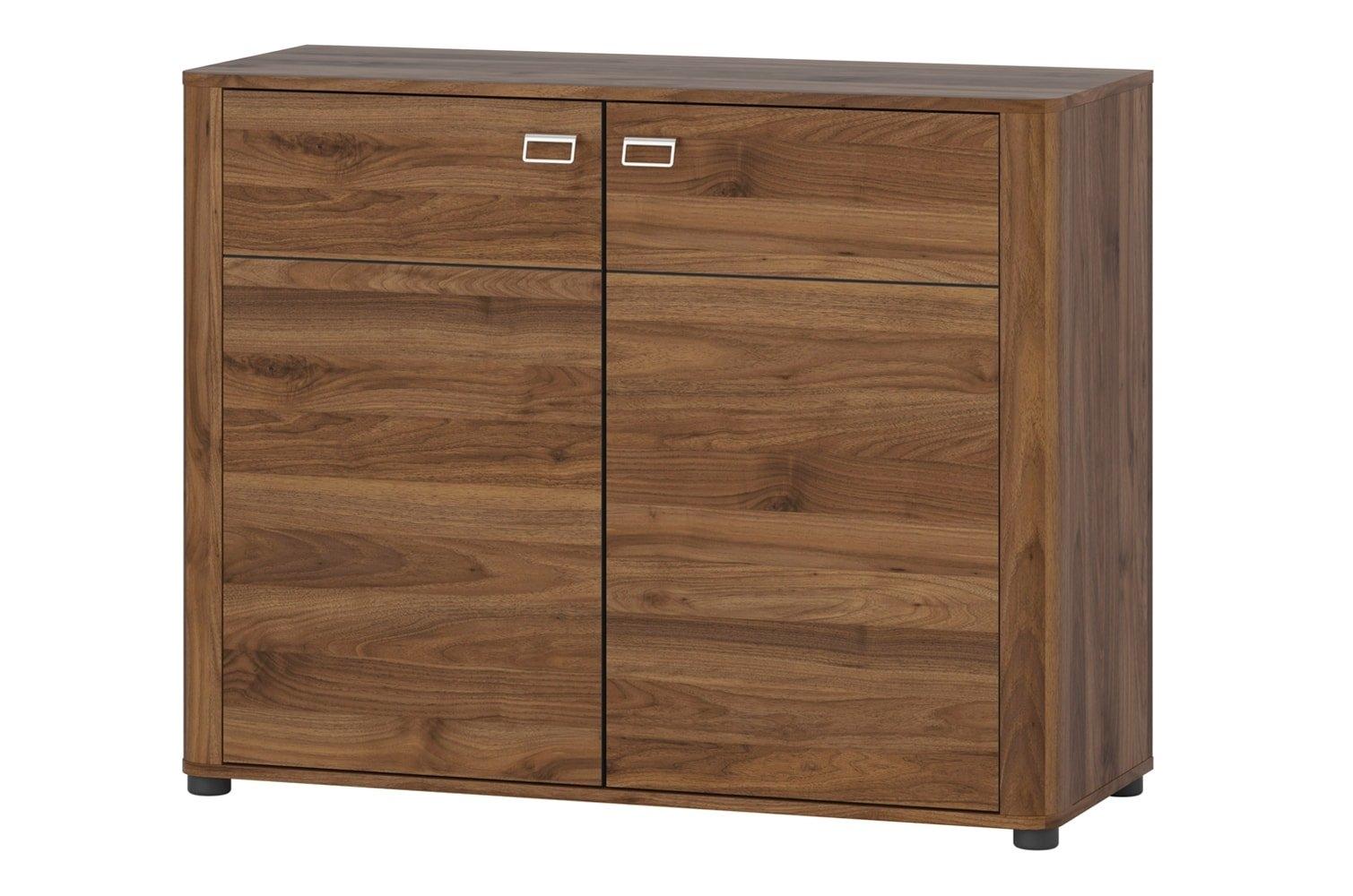 Cabinet din pal cu 2 usi Rondo 44 Walnut  l104xA42xH83 cm