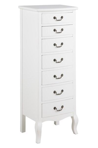 Cabinet din lemn cu 7 sertare Carikko White l43xA33xH110 cm