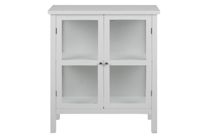 Cabinet cu vitrina si 2 usi din lemn Eton White l80xA355xH995 cm