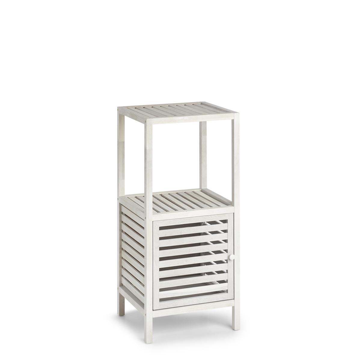 Cabinet din lemn cu 1 usa Wood Alb / Natural, l39,5xA35,5xH86,5 cm