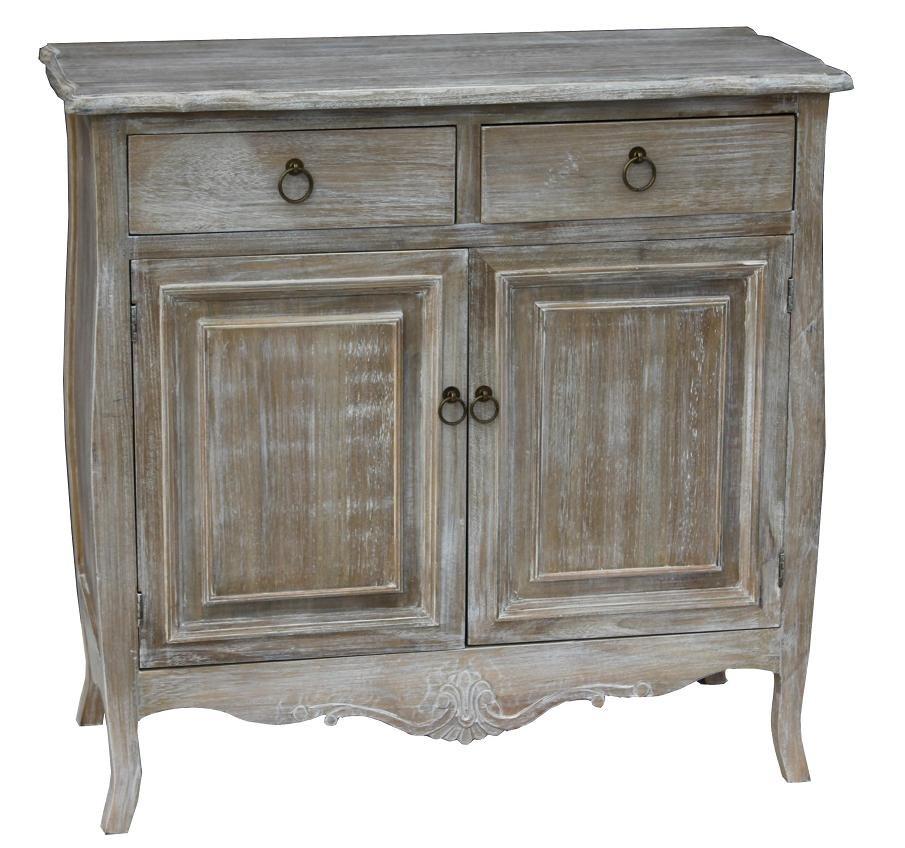 Cabinet din lemn de plop furnir si MDF cu 2 sertare si 2 usi Merano ME01DB Light Brown l88xA40xH85 cm