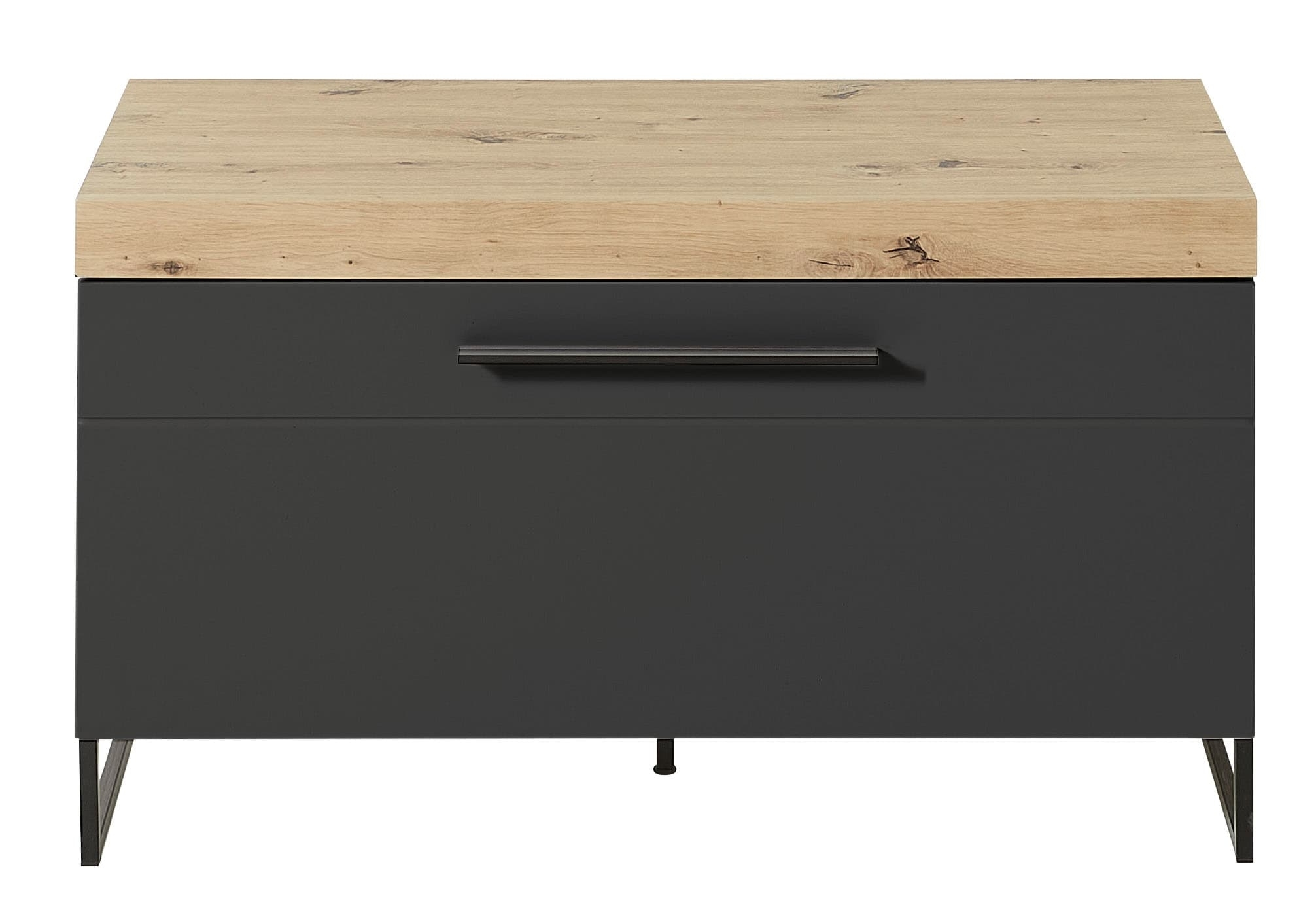 Cabinet din MDF cu 1 usa Loftis Grafit / Stejar, l96xA44xH55 cm imagine