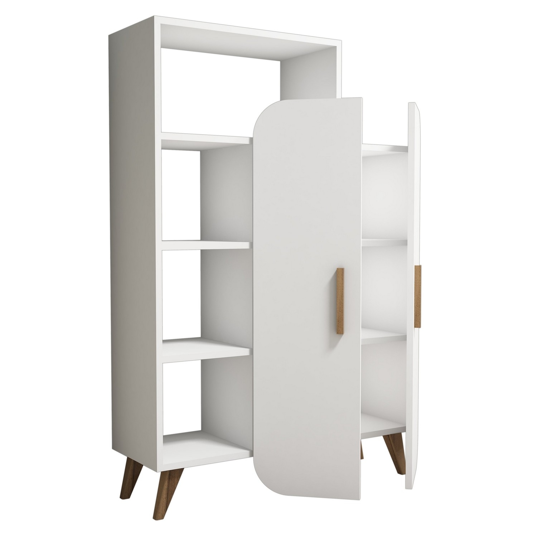 Cabinet din pal cu 2 usi Form Alb, l90xA32xH132 cm somproduct.ro