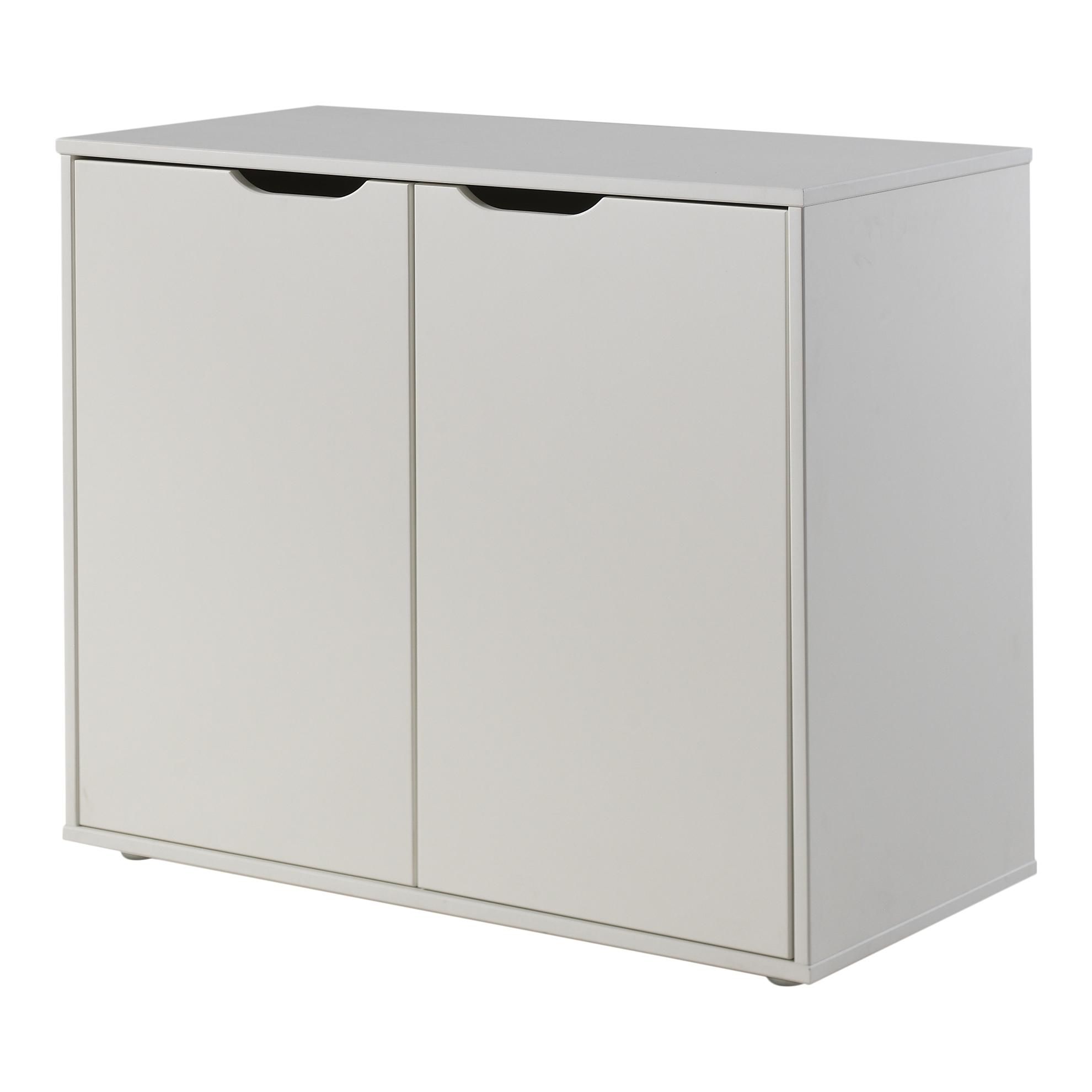 Cabinet din MDF cu 2 usi, pentru copii Pino Alb, l85,5xA43,3xH71,8 cm somproduct.ro