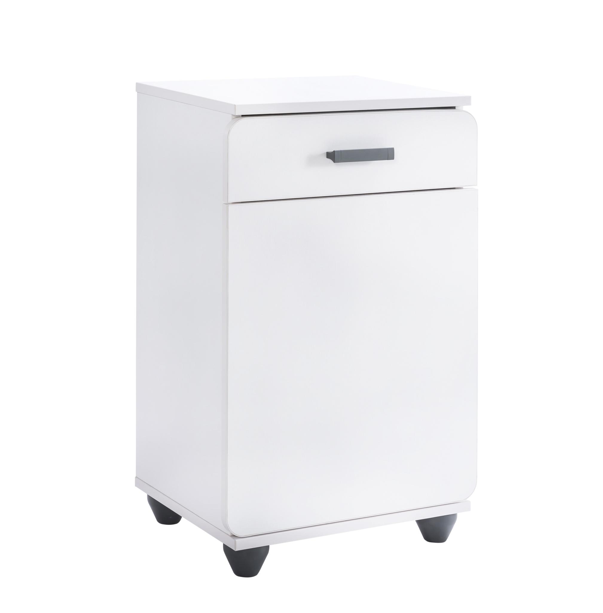 Cabinet din pal cu 1 sertar si 1 usa pentru tineret White l44xA37xH71 cm