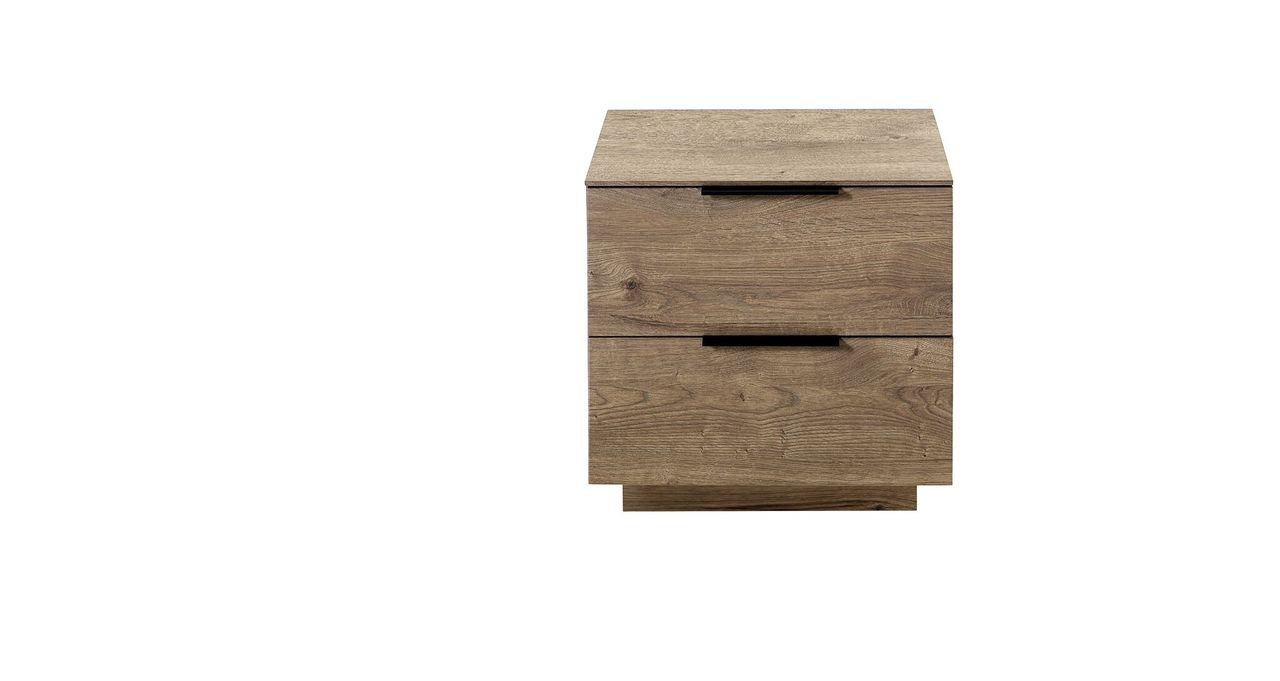 Cabinet din pal si MDF cu 2 sertare, Madeline Havel Oak Cognac, l60xA44xH61 cm somproduct.ro