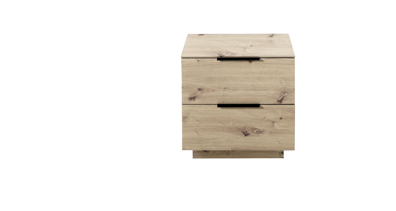 Cabinet din pal si MDF cu 2 sertare, Madeline Stejar, l60xA44xH61 cm