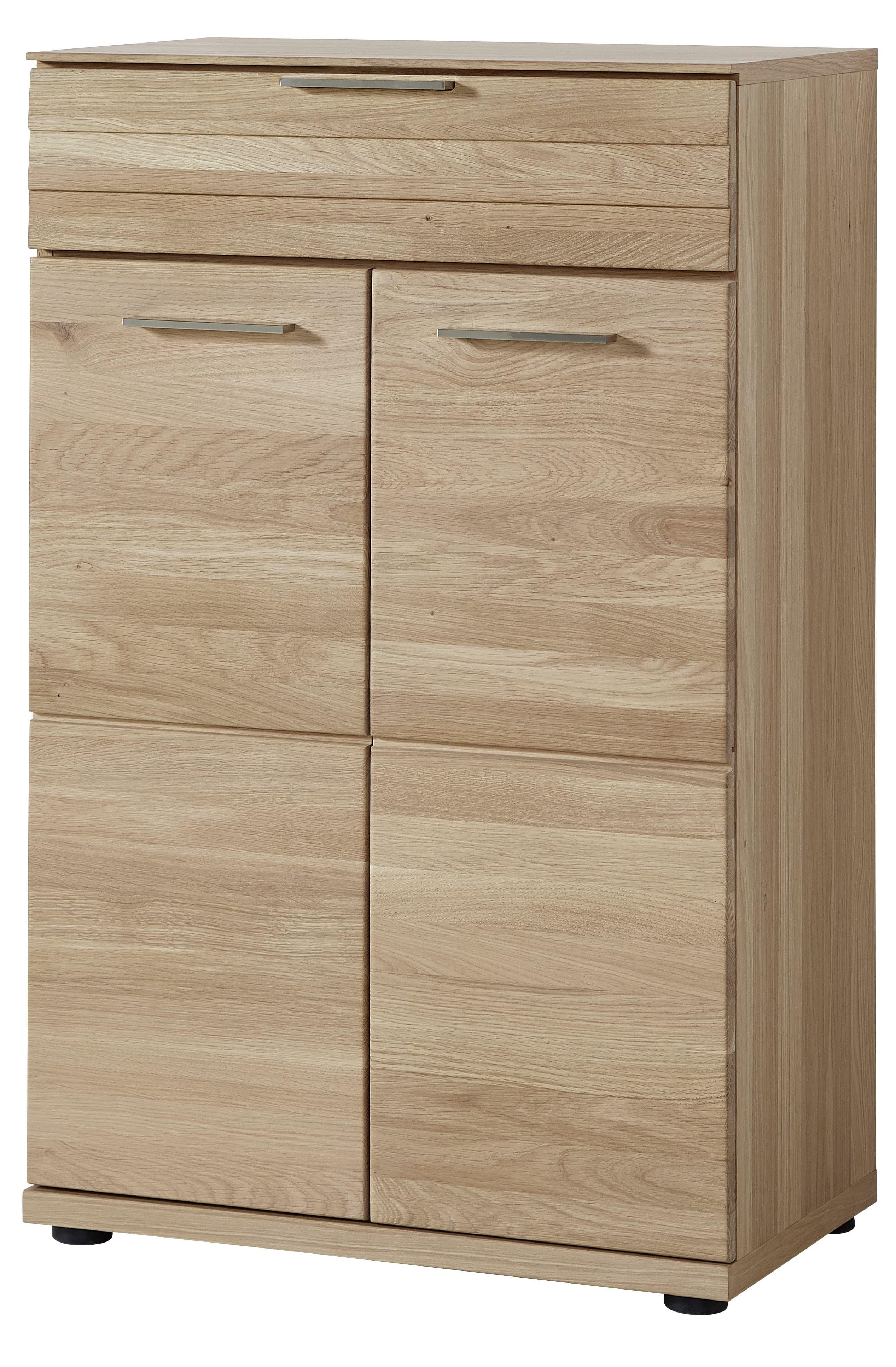 Cabinet hol din pal si MDF, cu 2 usi si 1 sertar, Archi Natur, l65xA40xH100 cm imagine