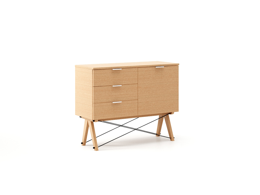 Comoda Mini Wood, L100xl40xh80 cm