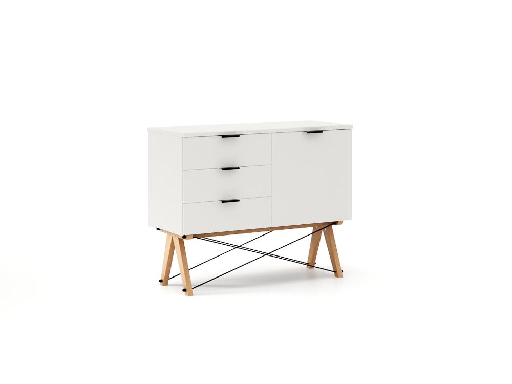 Comoda Mini White, L100xl40xh80 cm