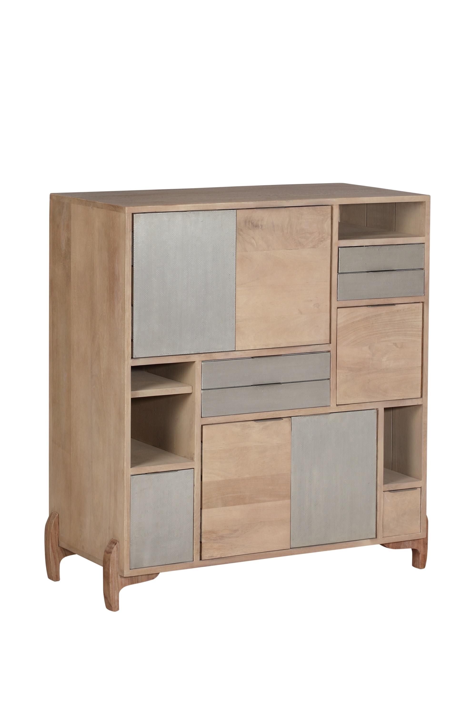 Cabinet din lemn Pasadena Natural l90xA40xH935 cm