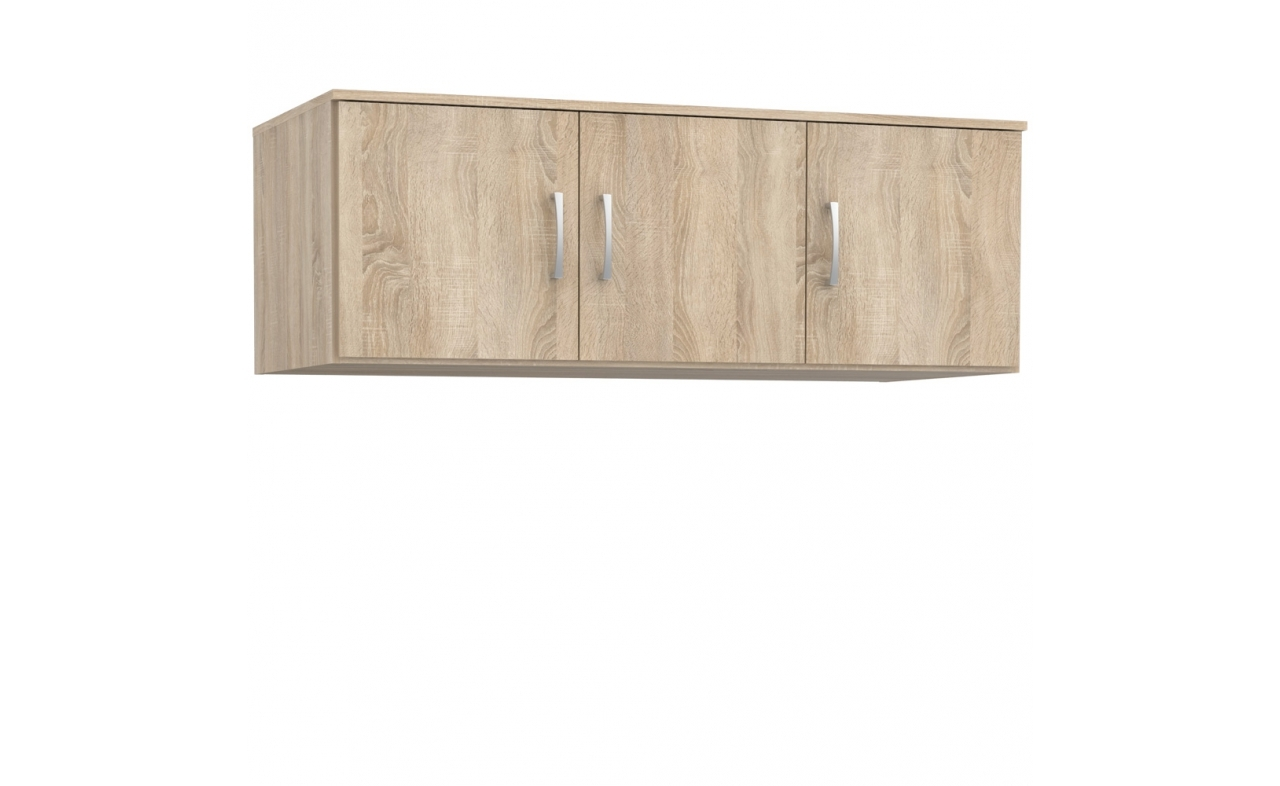 Cabinet suspendat din pal cu 3 usi Nikita Sonoma Oak l123xA53xH42 cm