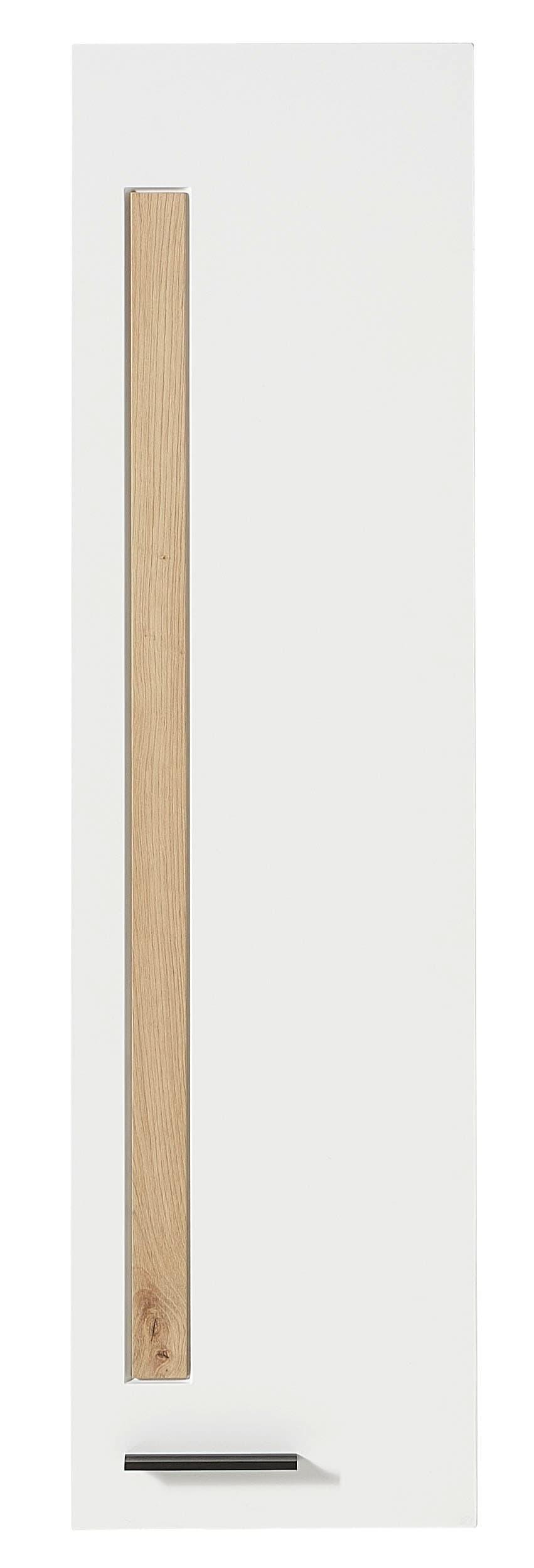 Cabinet suspendat din MDF cu 1 usa Loftis Alb / Stejar, l36xA37xH128 cm imagine