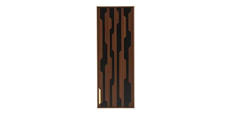 Cabinet suspendat din pal cu 1 usa Louisa Nuc / Negru, l33,6xA28,5xH90,5 cm imagine