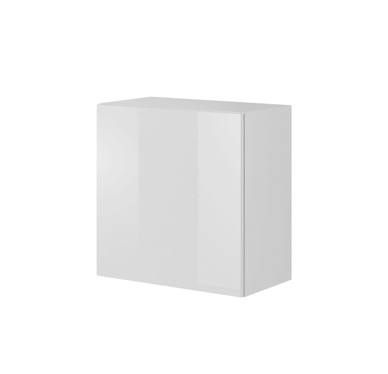 Cabinet suspendat din pal si MDF cu 1 usa Livo W-55 White l55xA30xH55 cm