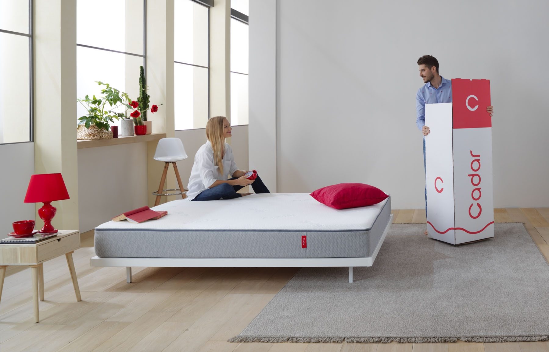 Saltea Cadar The Mattress Spuma Hr Graphite Memory Saltele Ilustratie