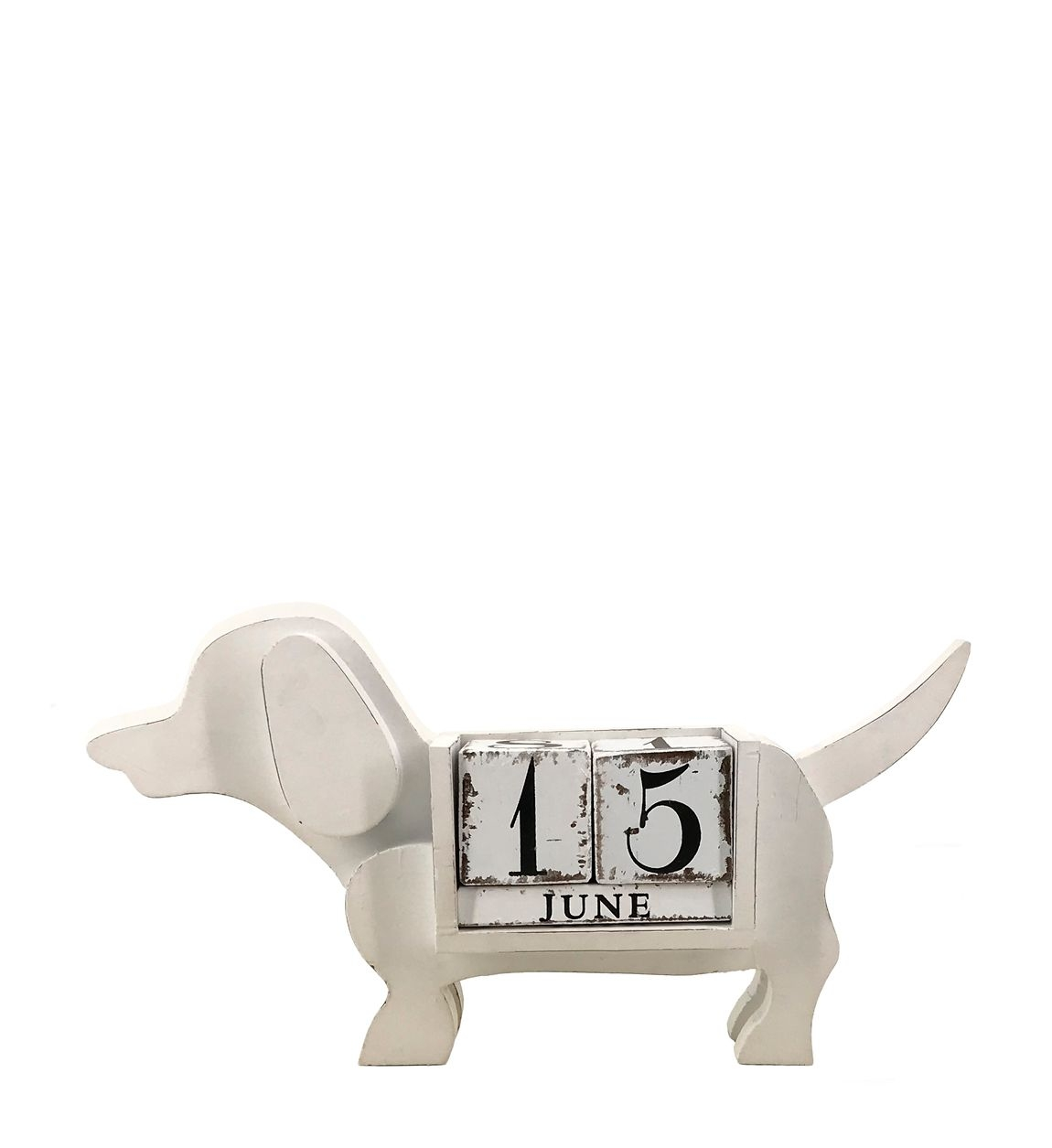 Calendar de birou Dog Gales Alb / Negru, l40xA7xH21 cm