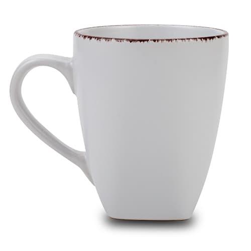 Cana din ceramica White Sugar Alb, 400 ml poza
