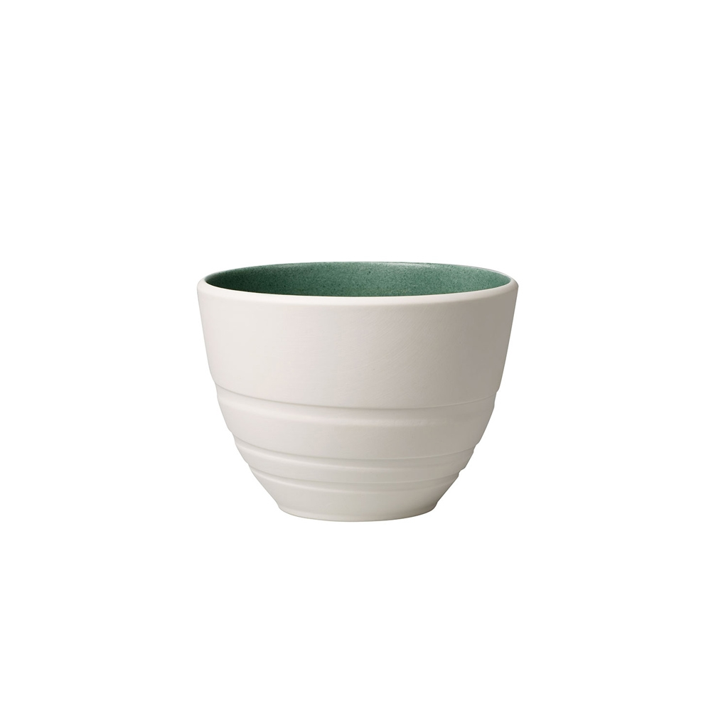 Cana din portelan, It's my Match Leaf Alb / Verde, 450 ml, Villeroy & Boch imagine