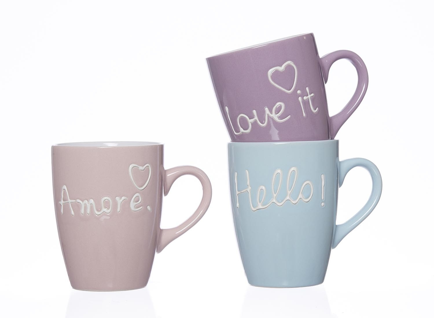 Set cani Words 350 ml 3 piese
