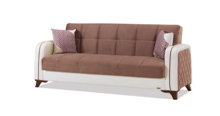 Canapea extensibila 3 locuri Elite Brown K3
