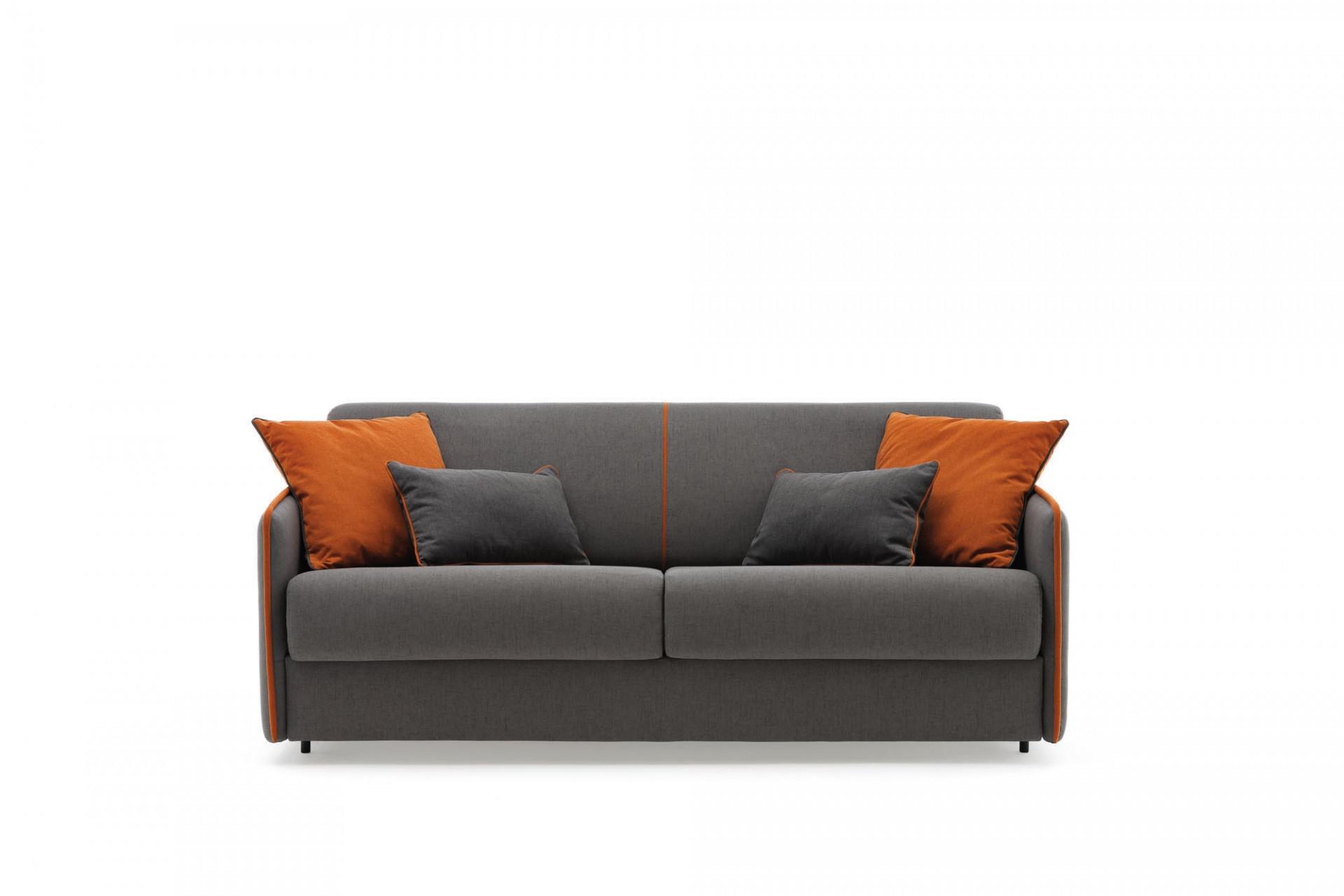 Canapea extensibila 2 locuri, tapitata cu stofa, Madeira Gri, l158xA99xH82 cm