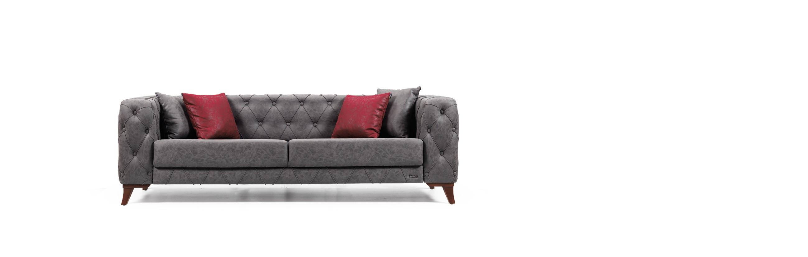 Canapea fixa 3 locuri Cosmos Grey K2