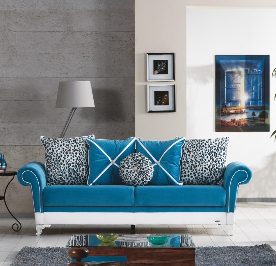 Canapea extensibila 3 locuri Morino Blue K1