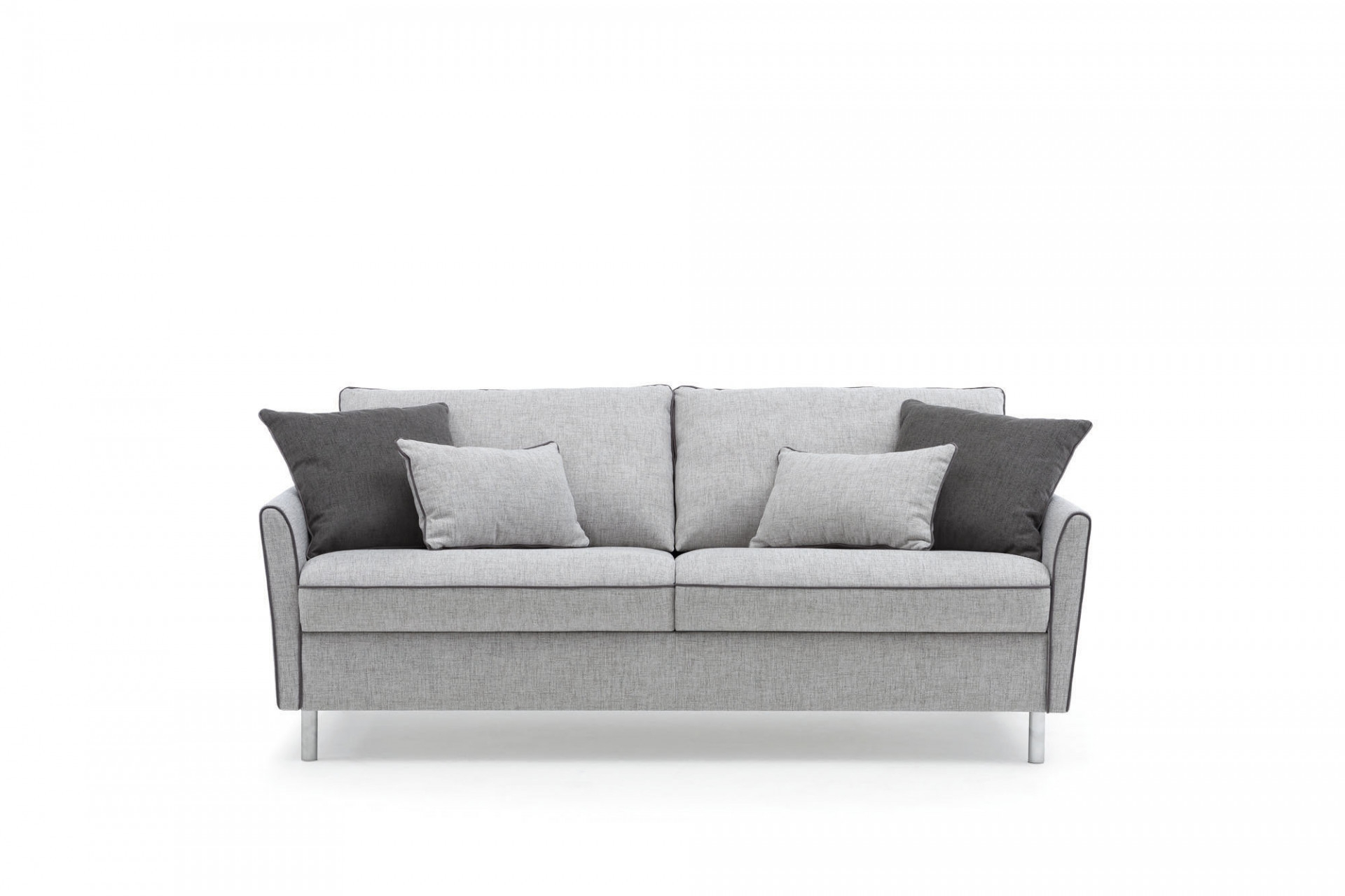 Canapea extensibila 3 locuri, tapitata cu stofa, Bali Gri, l202xA99xH90 cm